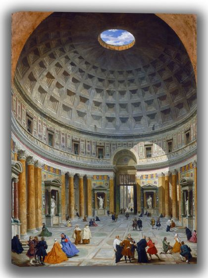Panini, Giovanni Paolo: Interior of the Pantheon, Rome. Fine Art Canvas. Sizes: A4/A3/A2/A1 (004095)